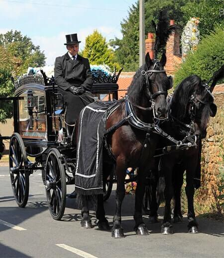 W Smith Sons Family Funeral Directors Horse-Drawn Carriage