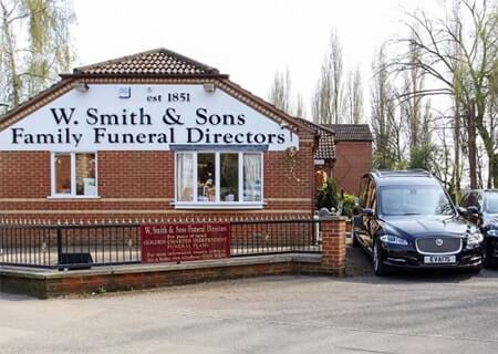 W Smith Sons Family Funeral Directors Nuneaton Funeral Home Office