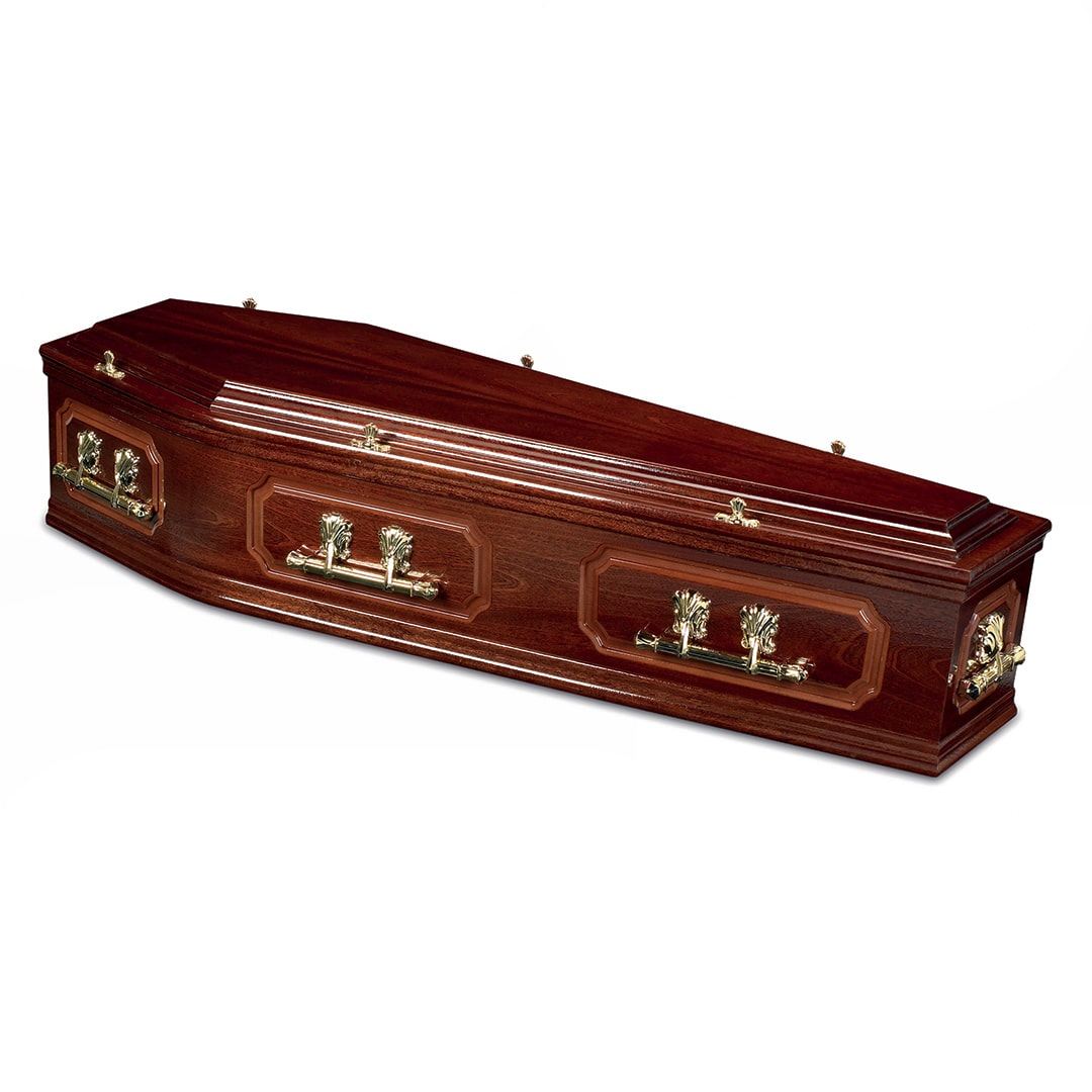 W Smith Funeral Directors The Bosworth Light Oak Coffin