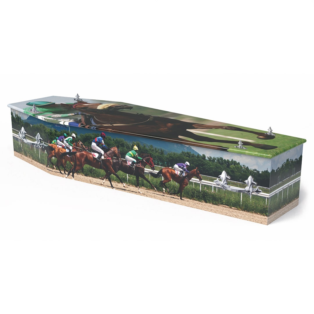 W Smith Funeral Directors The Colourful Racing Coffin