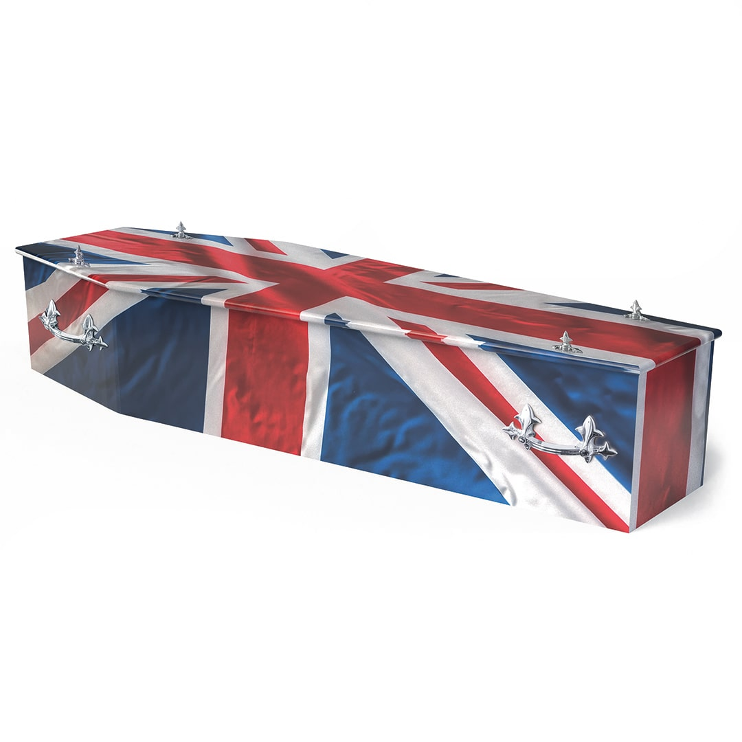 W Smith Funeral Directors The Colourful Union Flag Coffin
