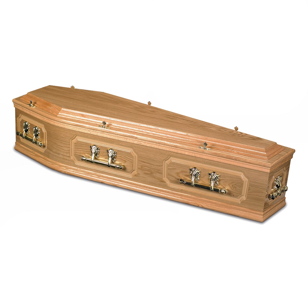 W Smith Funeral Directors The Middleton Light Oak Coffin
