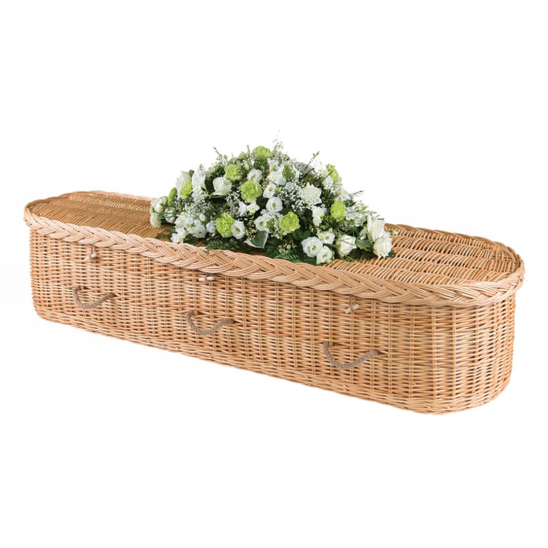 W Smith Funeral Directors The Wicker Coffin Curved
